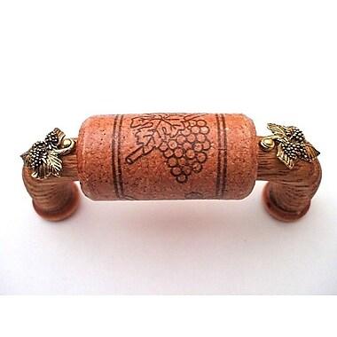Vine Designs LLC Vineyard 3'' Center Arch Pull; Cherry/Gold