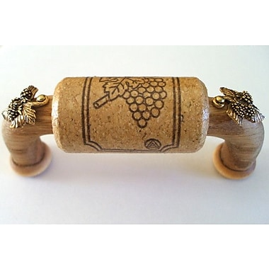 Vine Designs LLC Vineyard 3'' Center Arch Pull; Oak/Gold
