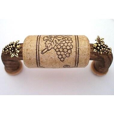 Vine Designs LLC Vineyard 3'' Center Arch Pull; Walnut/Natural/Gold