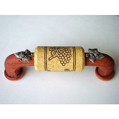 Vine Designs LLC Vineyard 4'' Center Arch Pull; Cherry/Natural/Silver