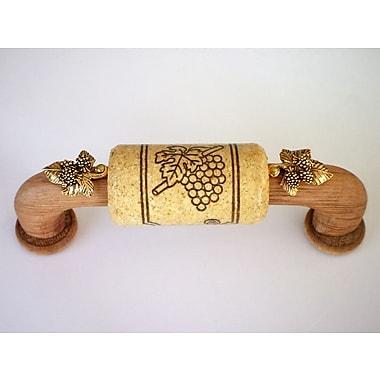 Vine Designs LLC Vineyard 4'' Center Arch Pull; Oak/Natural/Gold