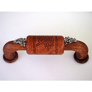 Vine Designs LLC Vineyard 4'' Center Arch Pull; Mahogany/Silver