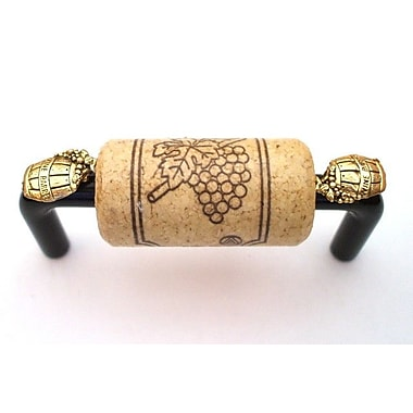Vine Designs LLC VIneyard 3'' Center Bar Pull; Black/Natural/Gold