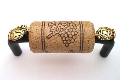 Vine Designs LLC VIneyard 3'' Center Bar Pull; Bronze/Walnut/Gold