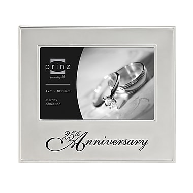 Prinz Timeless Love '25th Anniversary' Metal Picture Frame