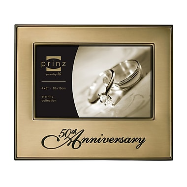 Prinz Timeless Love '50th Anniversary' Metal Picture Frame
