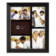 Prinz Five Opening Dakota Solid Wood Wall Picture Frame; Black