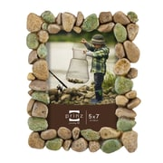 Prinz River Rocks Resin Picture Frame; 5'' x 7''