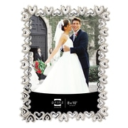 Prinz Heart To Heart Shiny Metal w/ Jewel Accents Picture Frame; 8'' x 10''