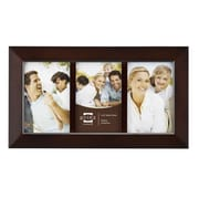 Prinz Three Opening Dakota Solid Wood Picture Frame; Dark Walnut