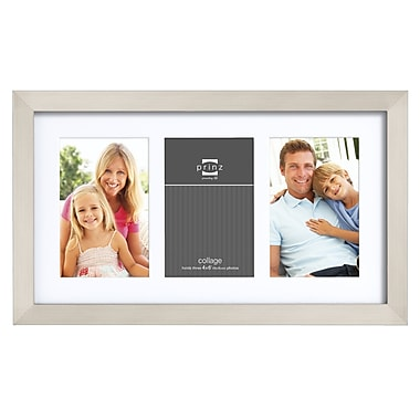 Prinz Three Opening Gallery Expressions Styrene Picture Frame; Nickel