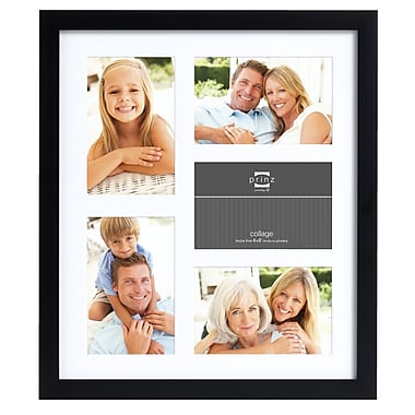 Prinz Five Opening Gallery Expressions Styrene Picture Frame; Black