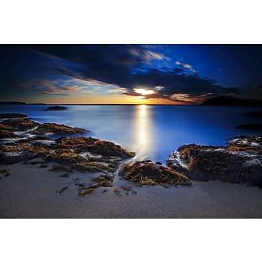 3 Panel Photo Blue Ocean Photographic Print on Wrapped Canvas
