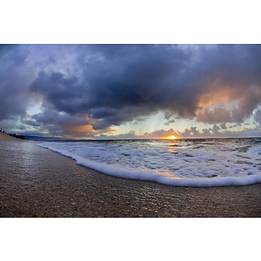 Elementem Photography Sunset on the Beach #3 Photographic Print on Wrapped Canvas
