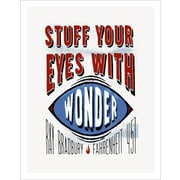3 Panel Photo Stuff Your Eyes w/ Wonder Textual Art on Wrapped Canvas; 16.5'' H x 11.5'' W x 1'' D