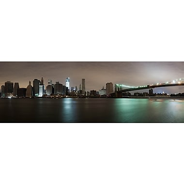 3 Panel Photo NYC at Night Photographic Print on Wrapped Canvas; 32'' H x 47'' W x 1'' D