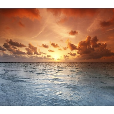3 Panel Photo Red Sun Photographic Print on Canvas; 24'' H x 28'' W x 1'' D
