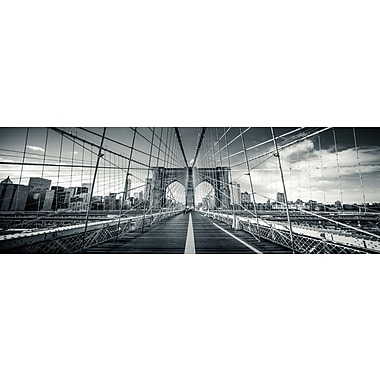 3 Panel Photo Brooklyn Bridge 2 Photographic Print on Canvas; 20'' H x 60'' W x 1'' D