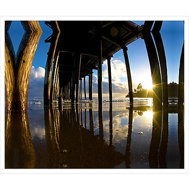 3 Panel Photo Sunrise Through the Pillars by Chach Files Photographic Print on Canvas