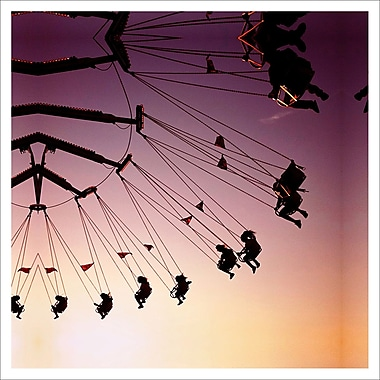 3 Panel Photo Swinging Through The Air by Dirka Photographic Print on Wrapped Canvas