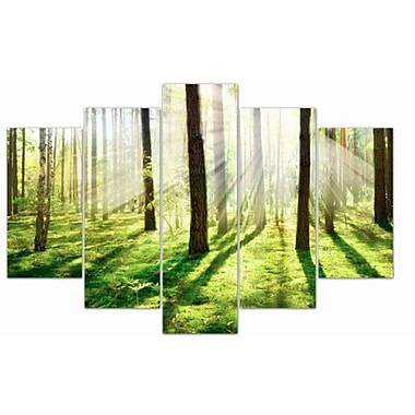 3PanelPhoto Sunlight Reflection 5 Piece Photographic Print on Wrapped Canvas Set