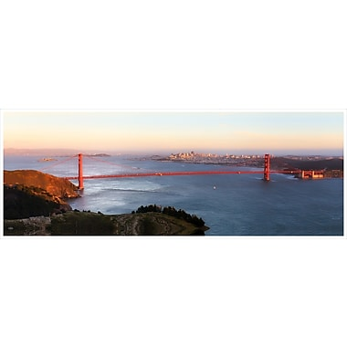 3 Panel Photo Golden Gate Panorama Photographic Print on Wrapped Canvas; 24'' H x 72'' W x 1'' D