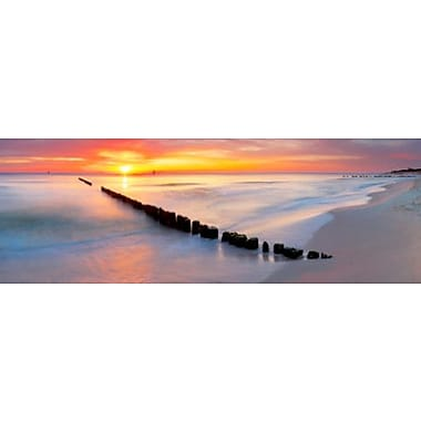 3 Panel Photo Jetty in the Sunset Photographic Print on Wrapped Canvas; 24'' H x 72'' W x 1'' D