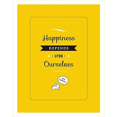 3 Panel Photo Happiness Depends Upon Textual Art on Canvas; 16.5'' H x 11.5'' W x 1'' D