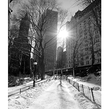 3 Panel Photo Winter at Lincoln Square Photographic Print on Canvas; 24'' H x 20'' W x 1'' D