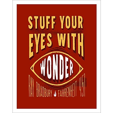 3 Panel Photo Stuff Your Eyes w/ Wonder 2 Textual Art on Wrapped Canvas; 11.5'' H x 8'' W x 1'' D