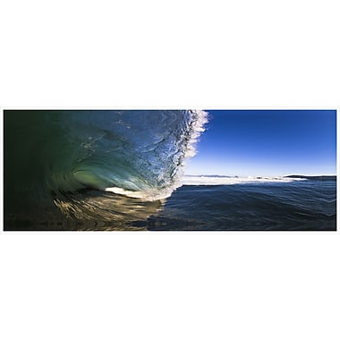 3 Panel Photo Curling Wave No. 2 Photographic Print on Wrapped Canvas; 24'' H x 72'' W x 1'' D