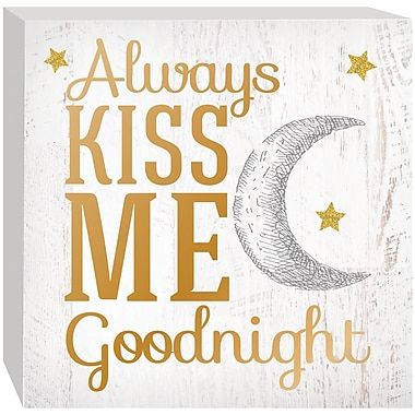 Prinz ''Always Kiss Me Goodnight'' Textual Art Plaque