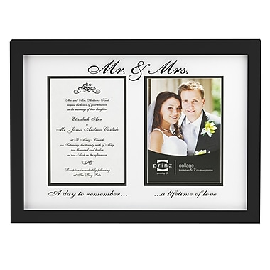 Prinz Two Opening Forevermore 'Mr. & Mrs.' Picture Frame