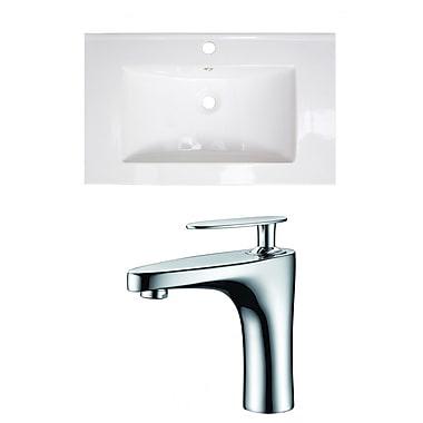 American Imaginations Single Handle 32'' Single Bathroom Vanity Top
