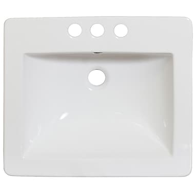 American Imaginations Drop-in 21'' Single Bathroom Vanity Top