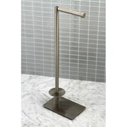 Kingston Brass Claremont Freestanding Toilet Paper Holder; Satin Nickel