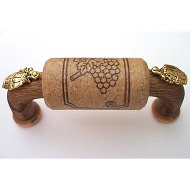 Vine Designs LLC Vineyard 3'' Center Arch Pull; Walnut/Gold