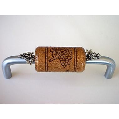 Vine Designs LLC Vineyard 4'' Center Bar Pull; Brushed Chrome/Espresso/Silver