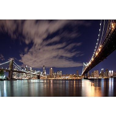 3 Panel Photo NYC Bridges Photographic Print on Wrapped Canvas; 32'' H x 47'' W x 1'' D
