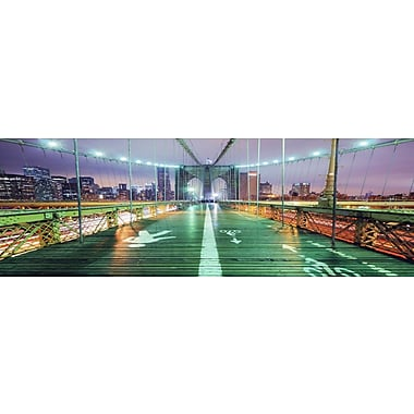 3 Panel Photo Brooklyn Lights 3 Photographic Print on Canvas; 24'' H x 72'' W x 1'' D