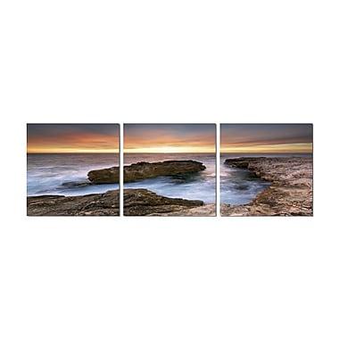 3 Panel Photo Coastline 3 Piece Photographic Print on Canvas Set; 20'' H x 60'' W x 1'' D