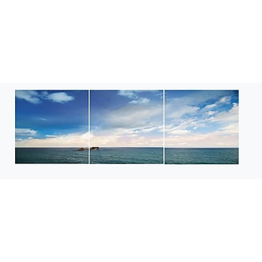 3 Panel Photo Clear Ocean 3 Piece Photographic Print Set