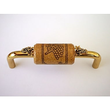 Vine Designs LLC Vineyard 4'' Center Bar Pull; Brass/Walnut/Gold