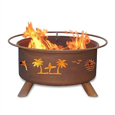 Patina Products Classic Pacific Coast Steel Wood Burning Fire pit