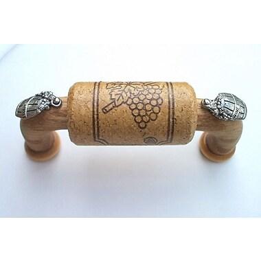 Vine Designs LLC Vineyard 3'' Center Arch Pull; Oak/Silver