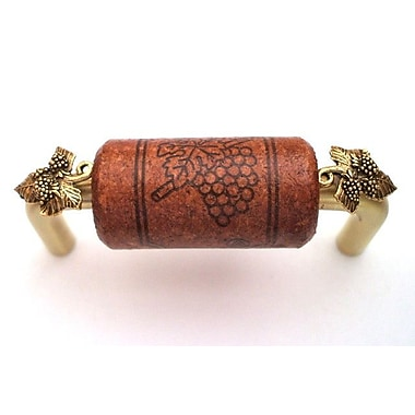 Vine Designs LLC Vineyard 3'' Center Bar Pull; Brush Brass/Mahogany/Gold
