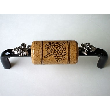Vine Designs LLC Vineyard 4'' Center Bar Pull; Black/Walnut/Silver