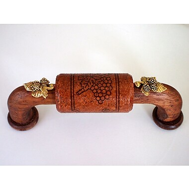 Vine Designs LLC Vineyard 4'' Center Arch Pull; Mahogany/Gold