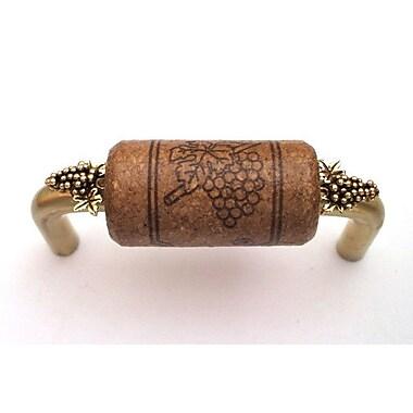 Vine Designs LLC Vineyard 3'' Center Bar Pull; Brass/Espresso/Gold