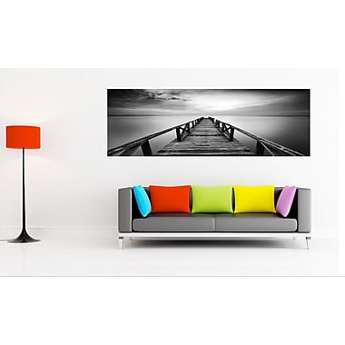 3 Panel Photo Pier in Chrome Photographic Print on Wrapped Canvas; 24'' H x 72'' W x 1'' D